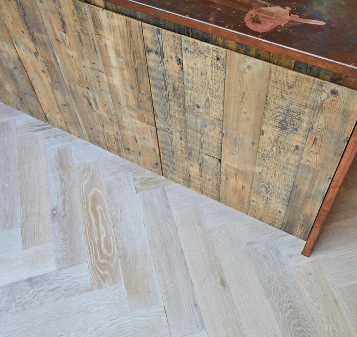 Kitchen parquet flooring