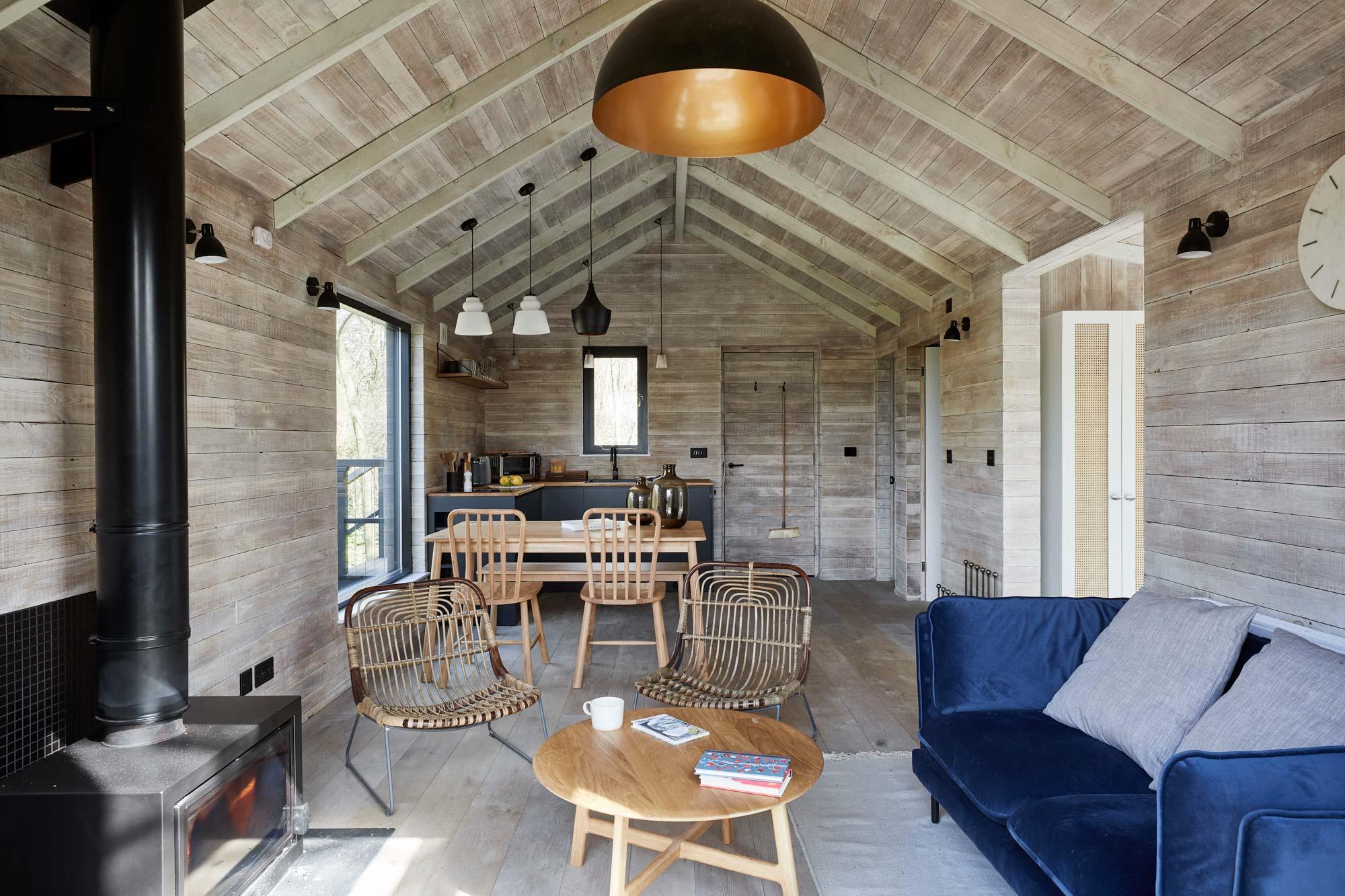 Treehouse blue kitchen