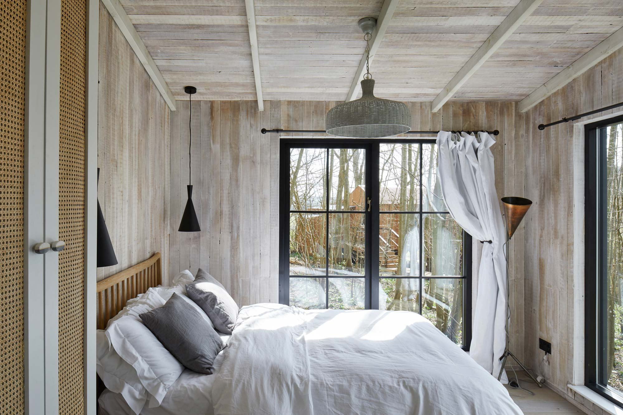 Wild Escapes treehouse cladded in rustic wood cladding