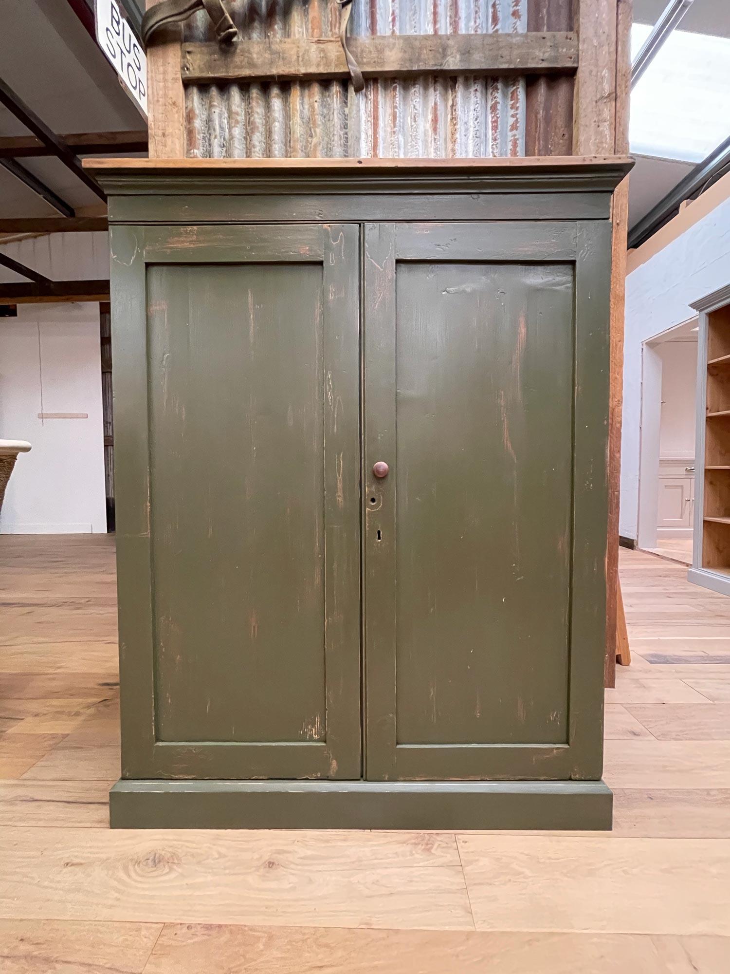 Original green storage cupboard