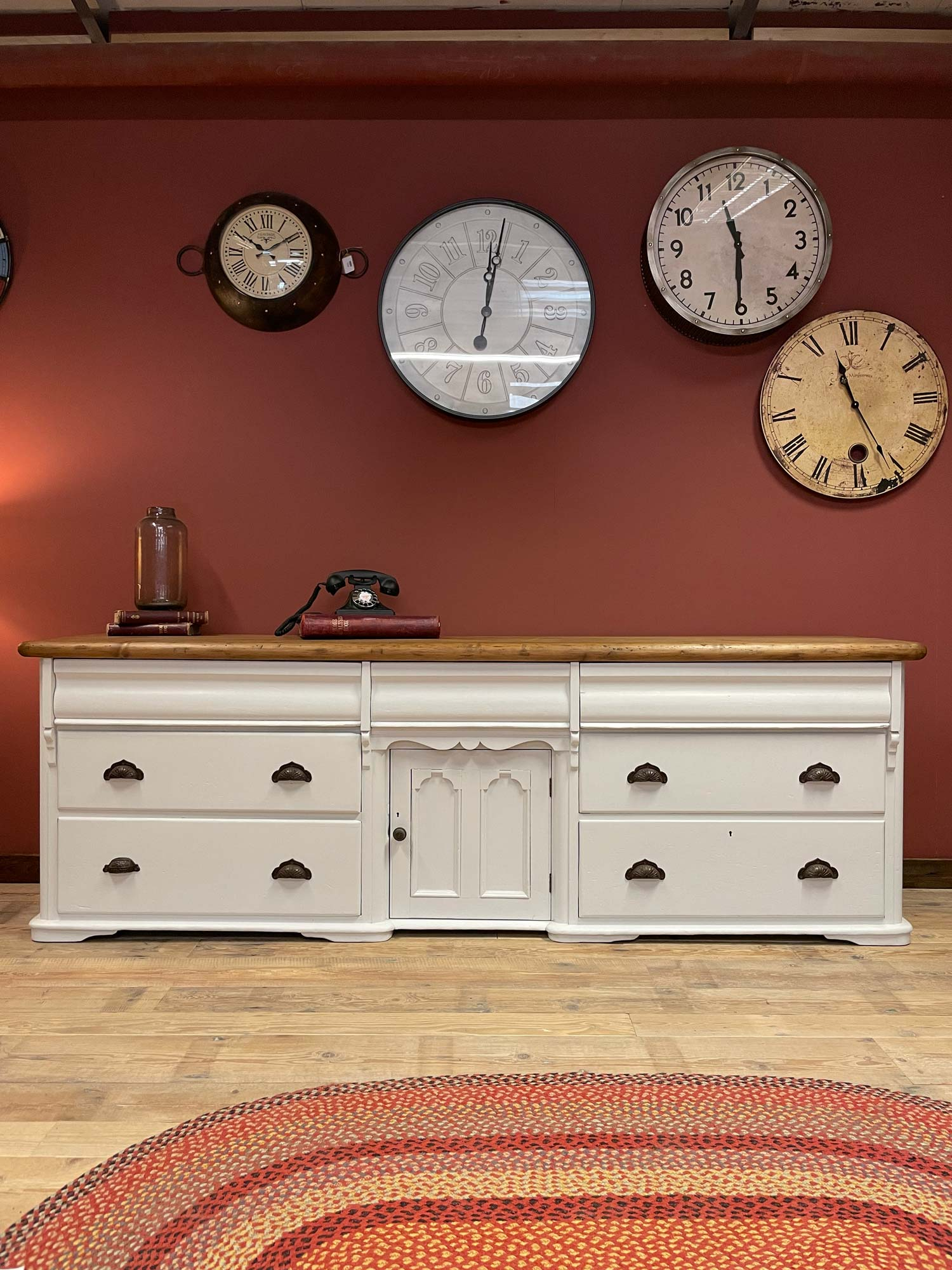 Large Yorkshire painted sideboard