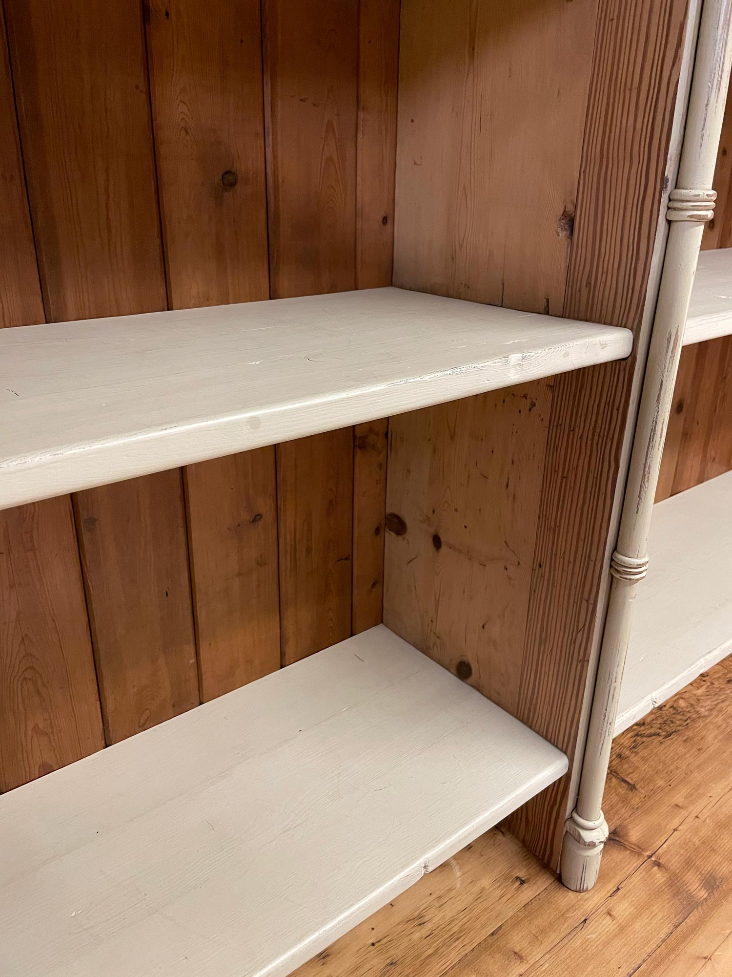 Painted Library Bookcase Shelves