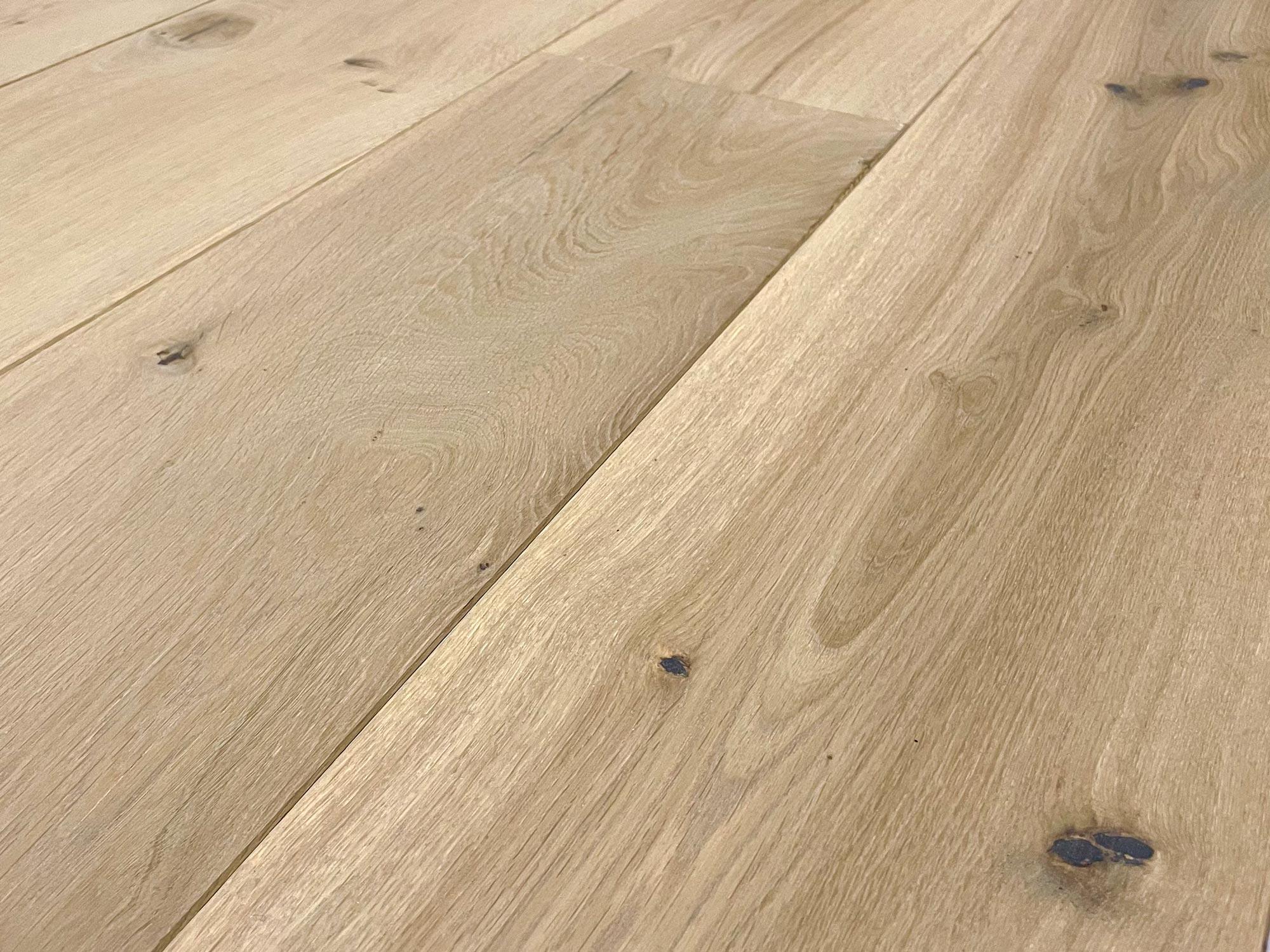 Light oak engineered flooring