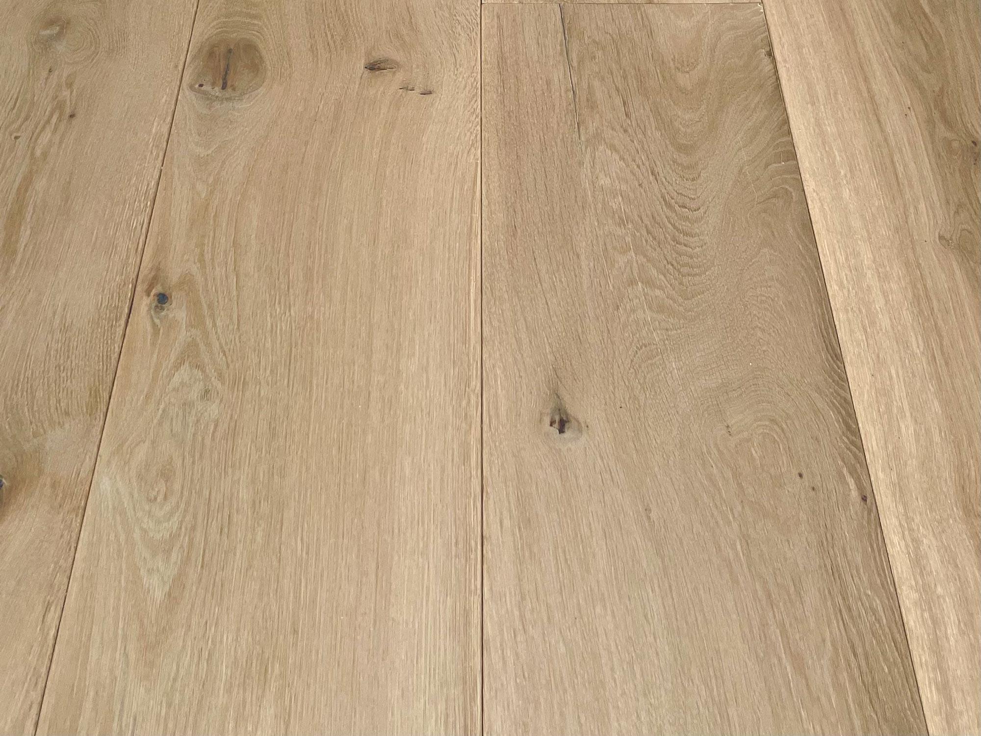 Clean oak floor boards