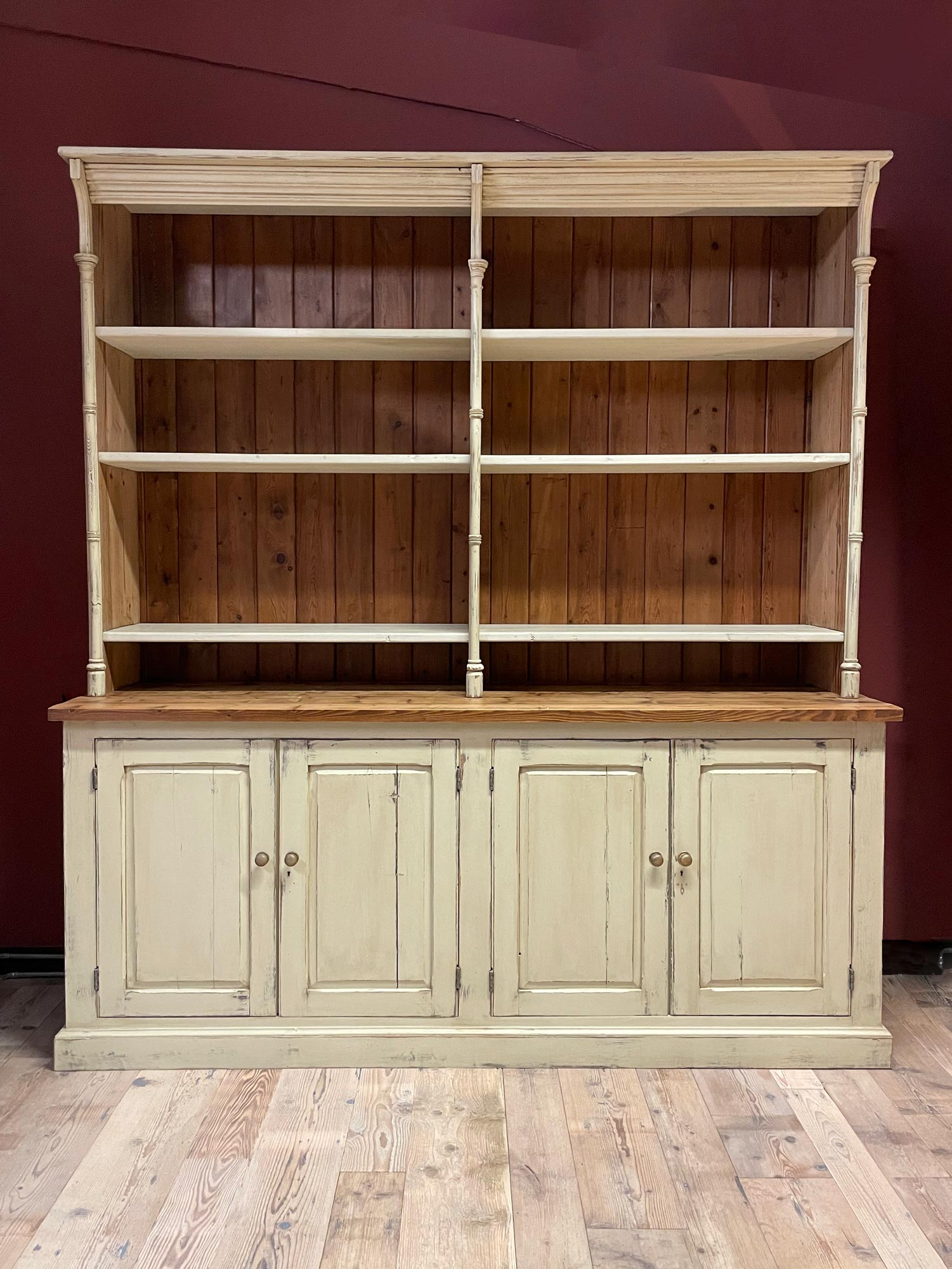 Original Painted Library Bookcase