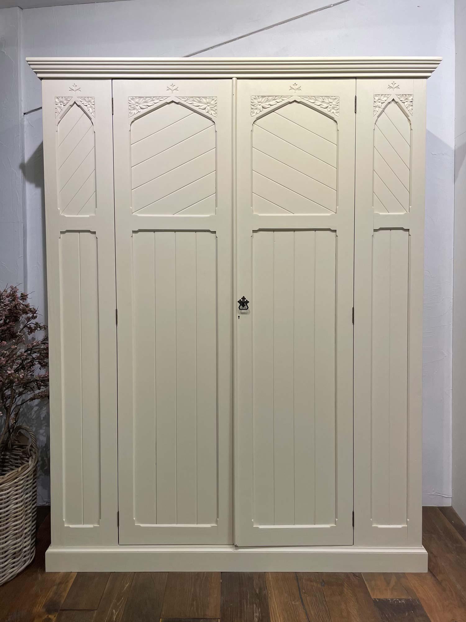 Original painted double door wardrobe