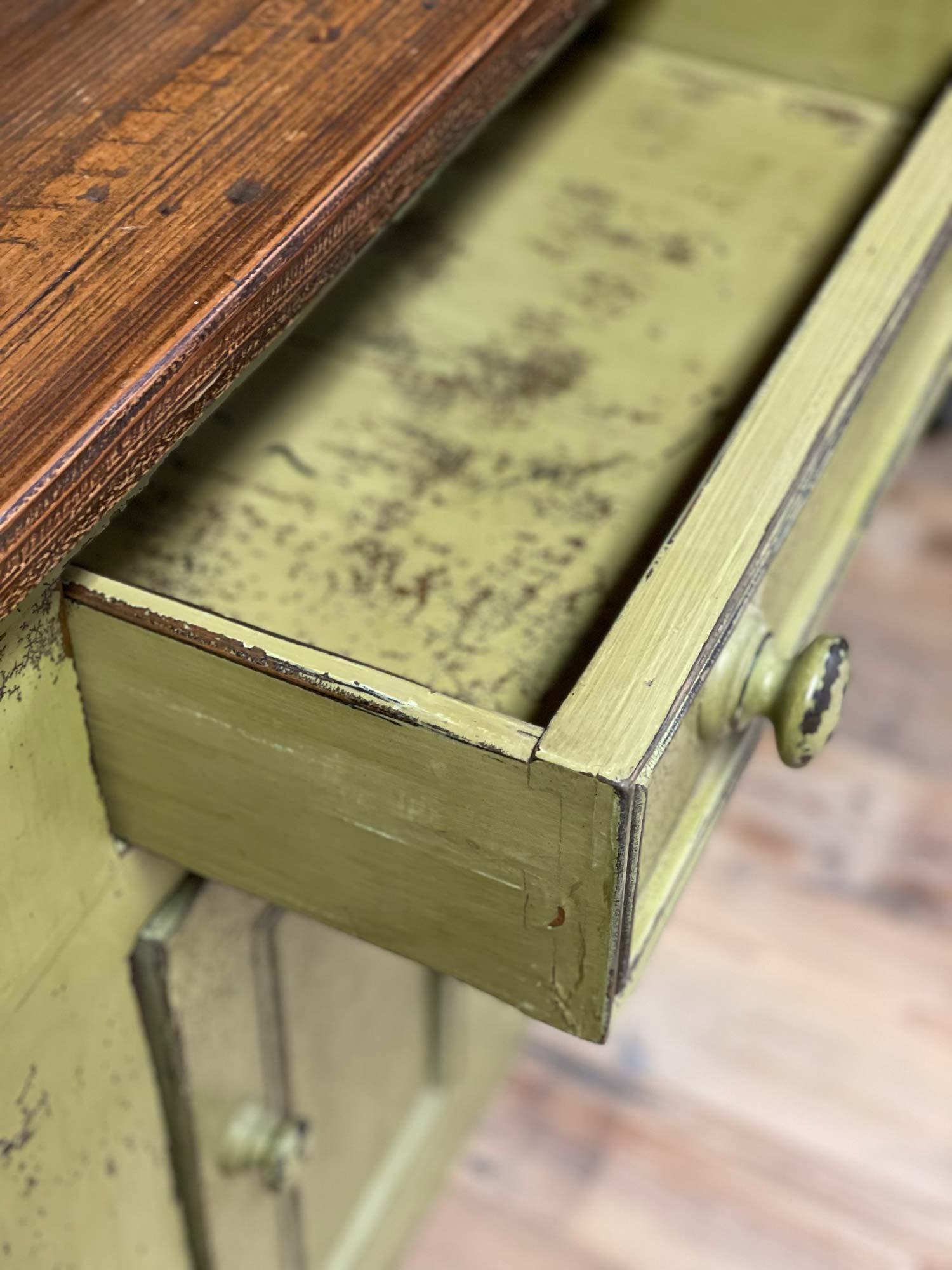 Painted dresser drawer