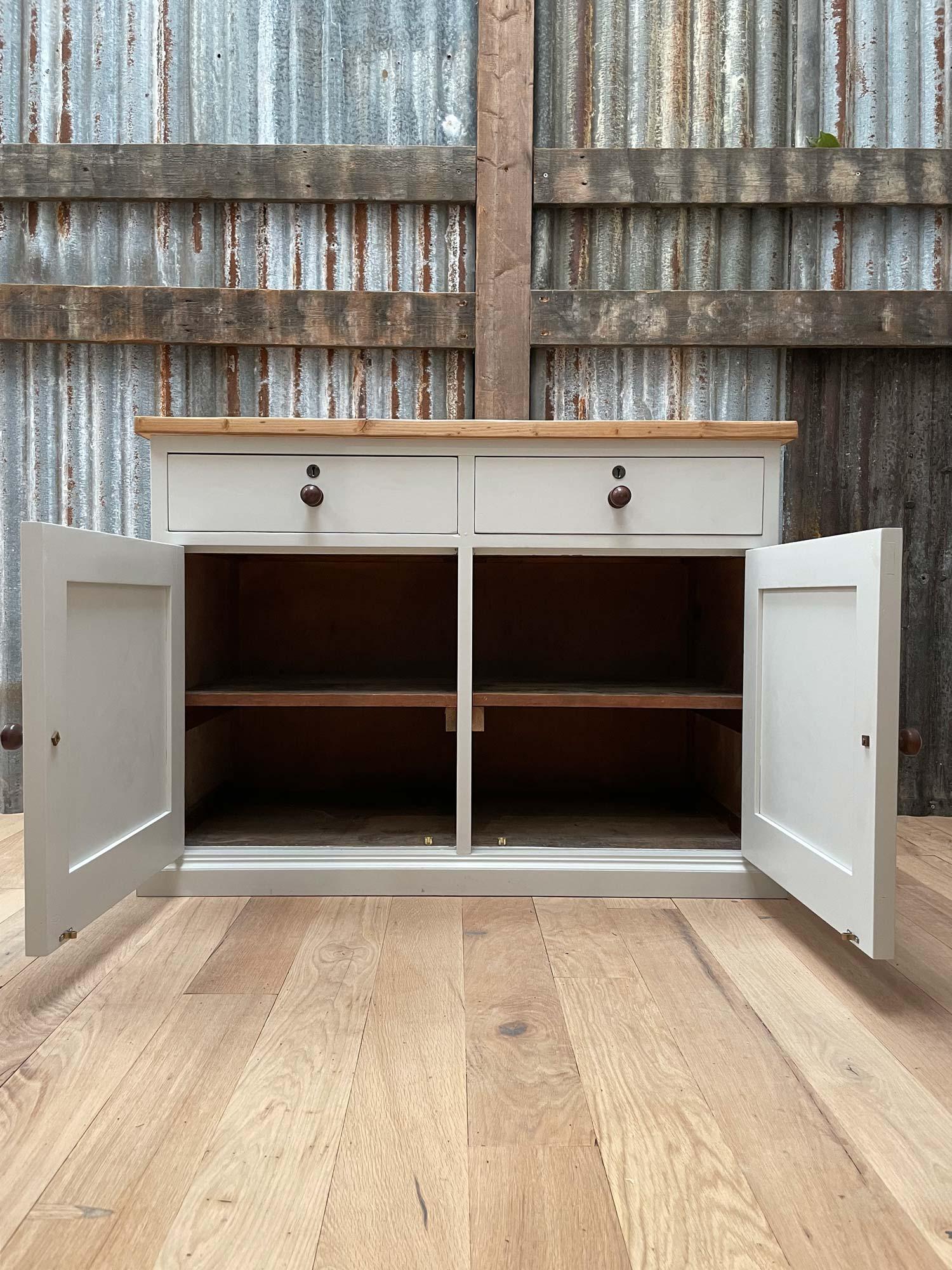Double door drawer painted sideboard