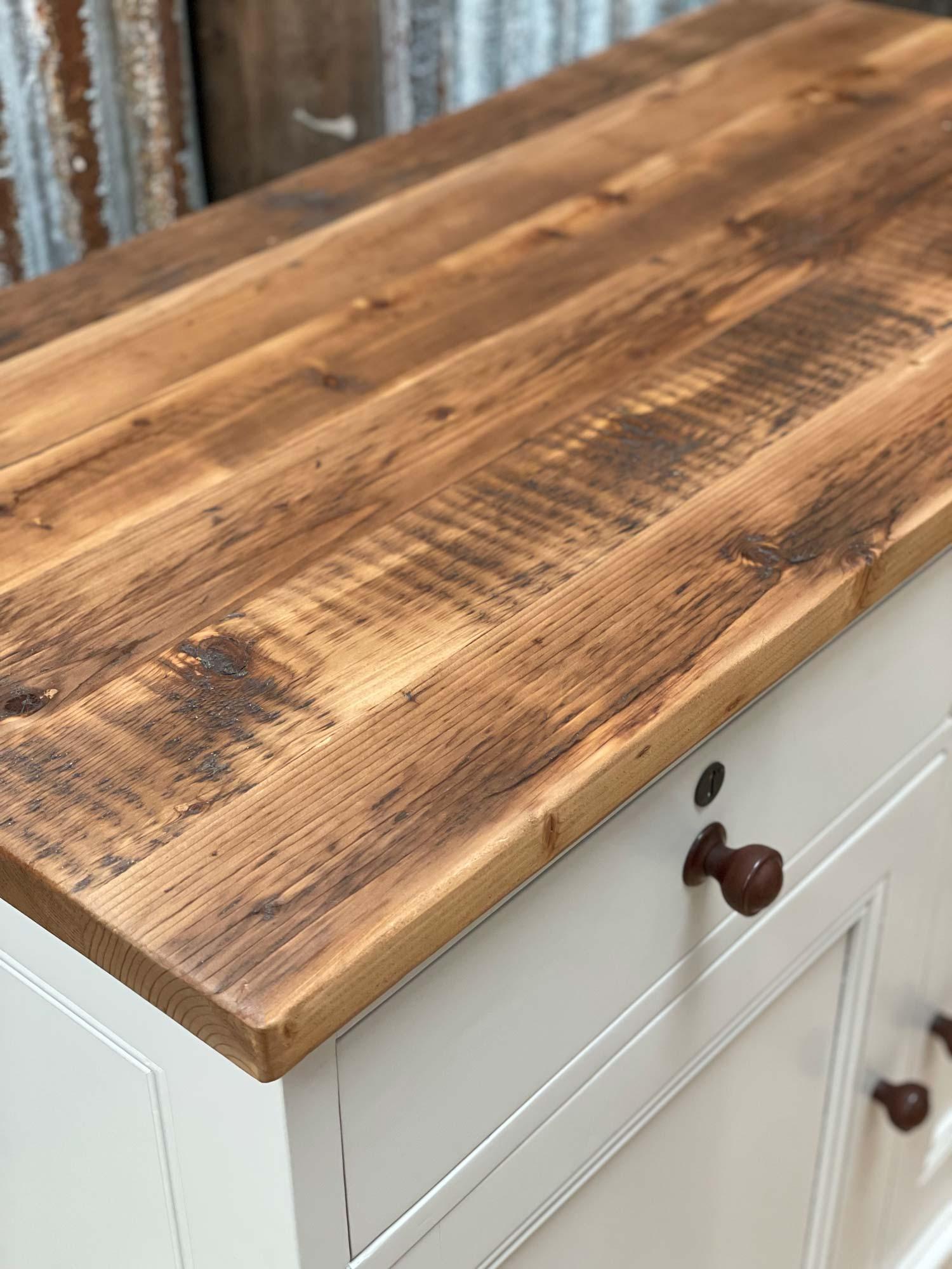 Reclaimed sideboard worktop