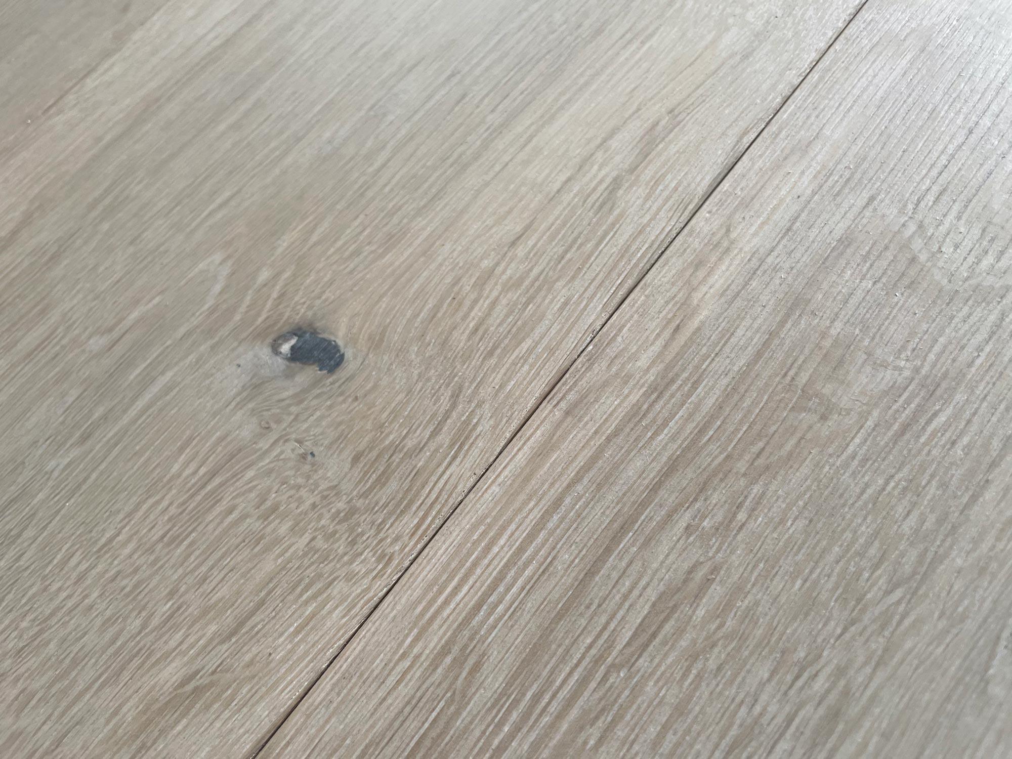 Washed oak floor boards