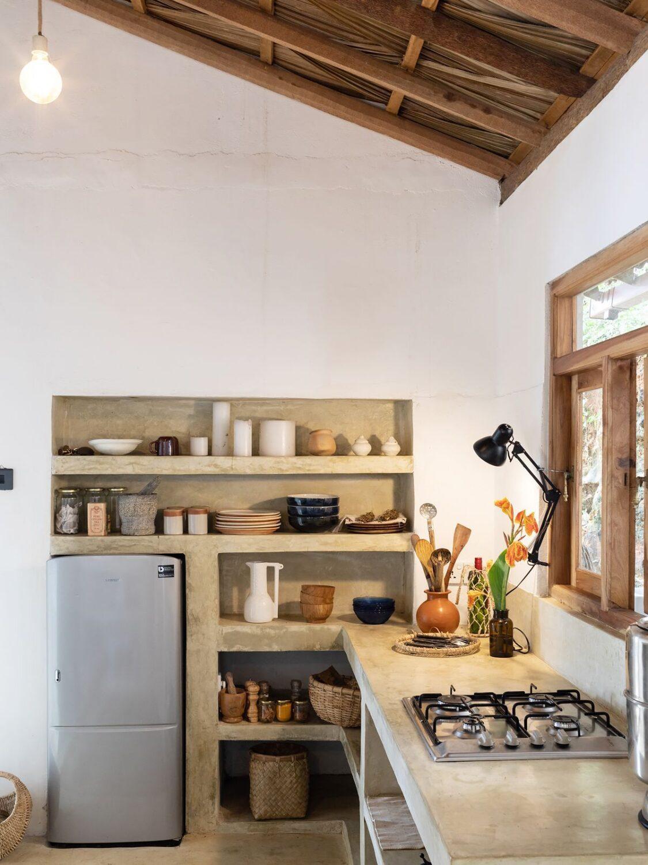 Beech house concrete kitchen