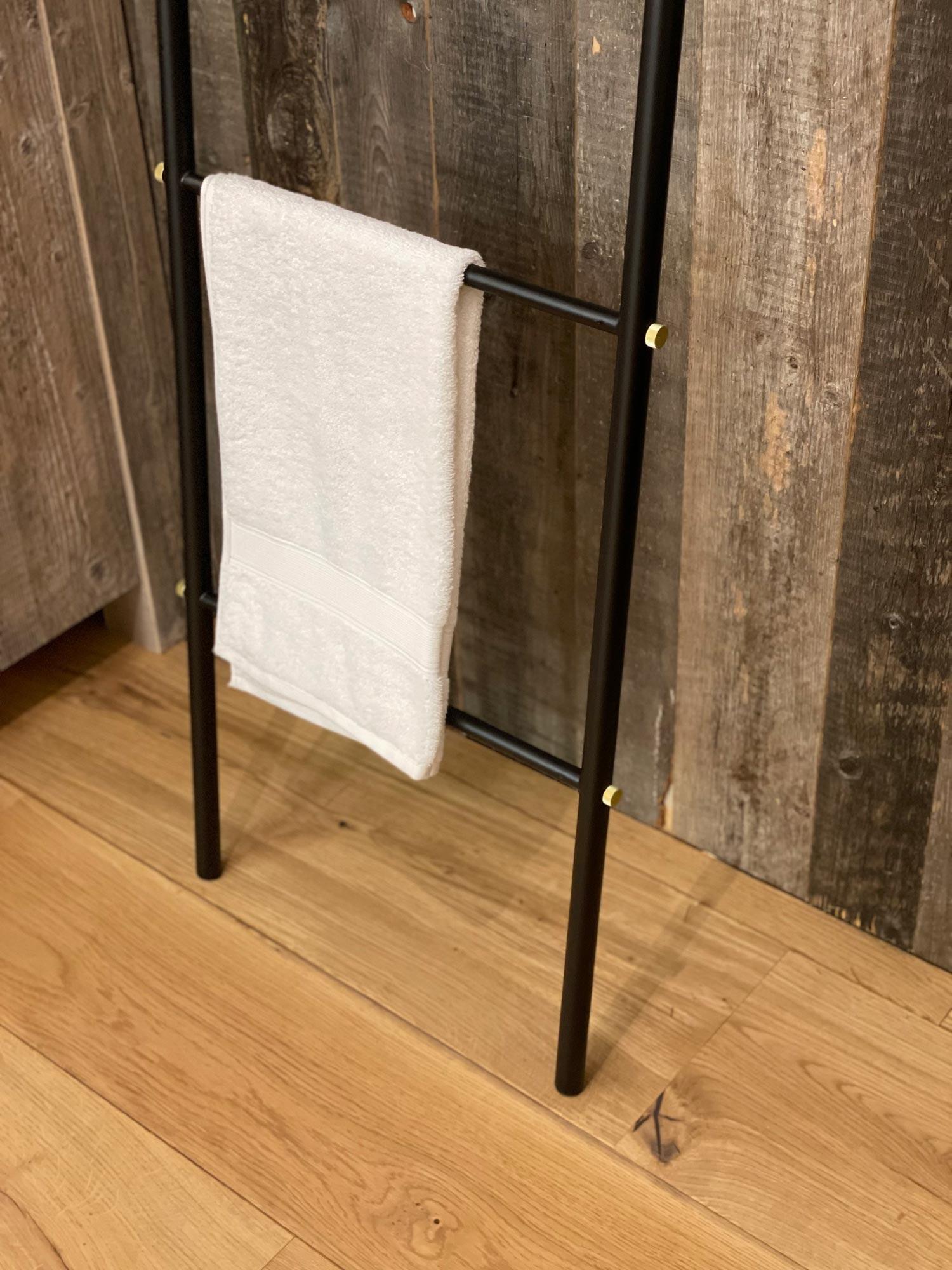 Black towel rail ladder