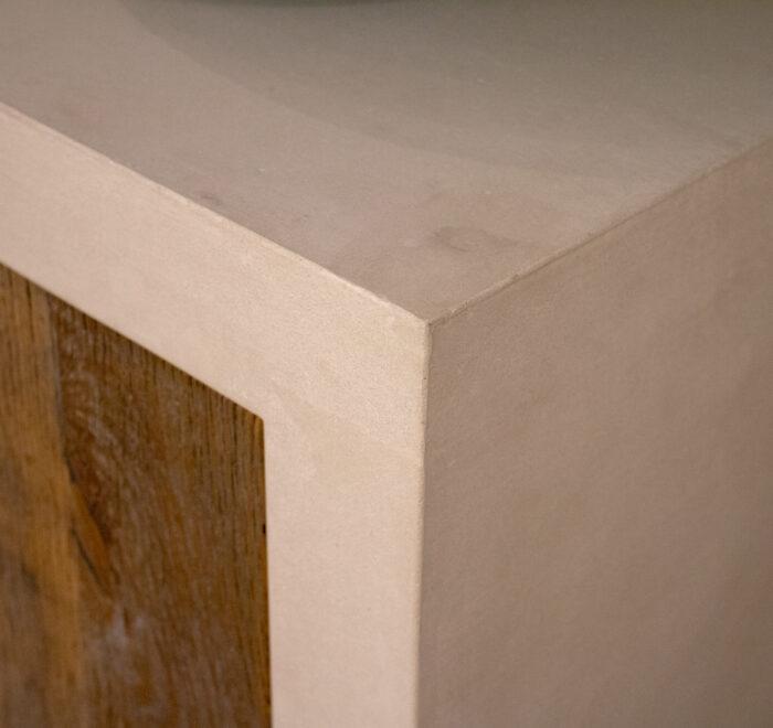 Concrete kitchen worktop