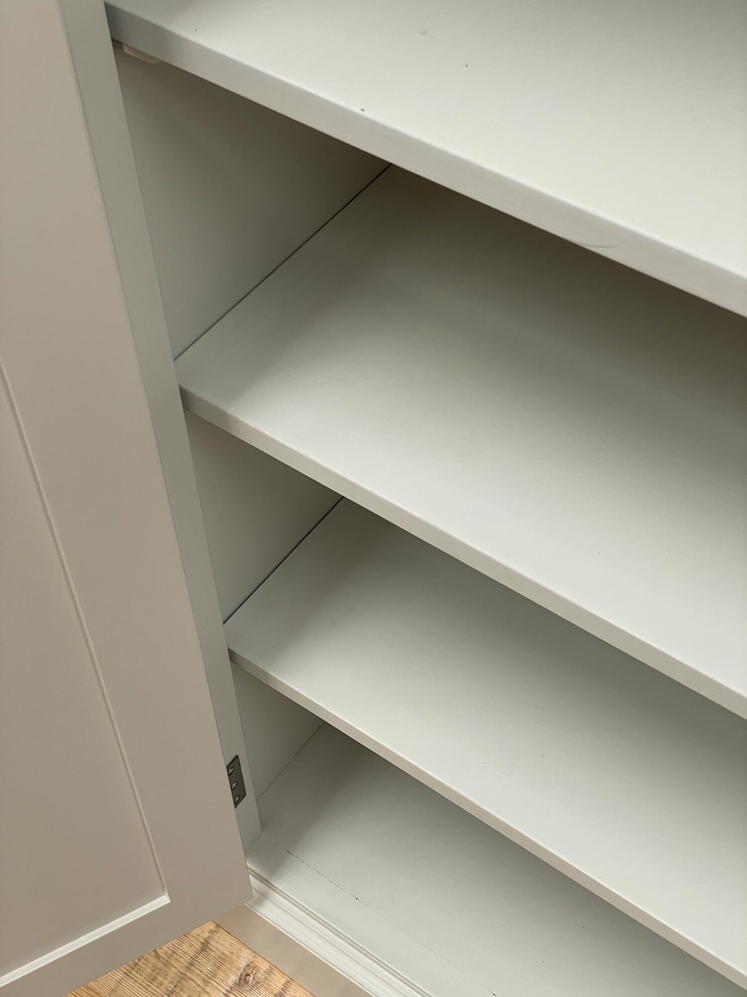 Painted internal shelves