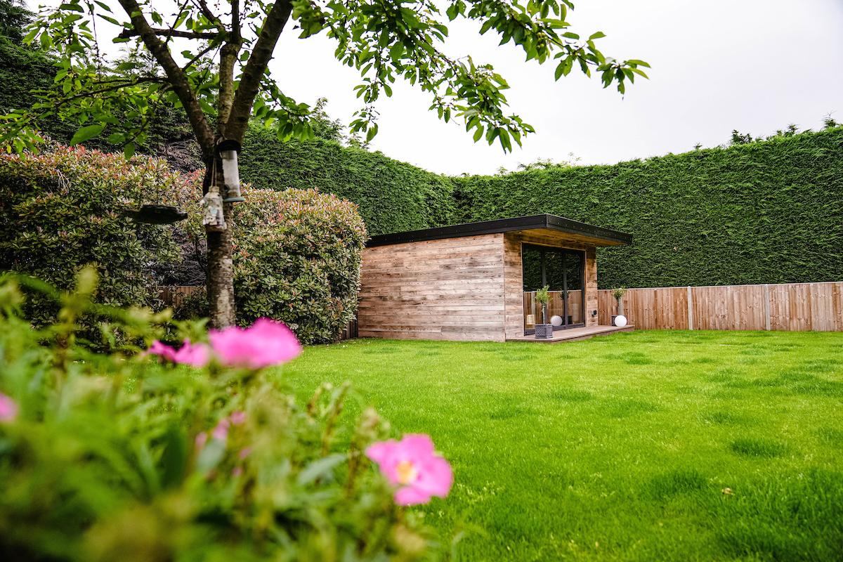reclaimed wood garden room