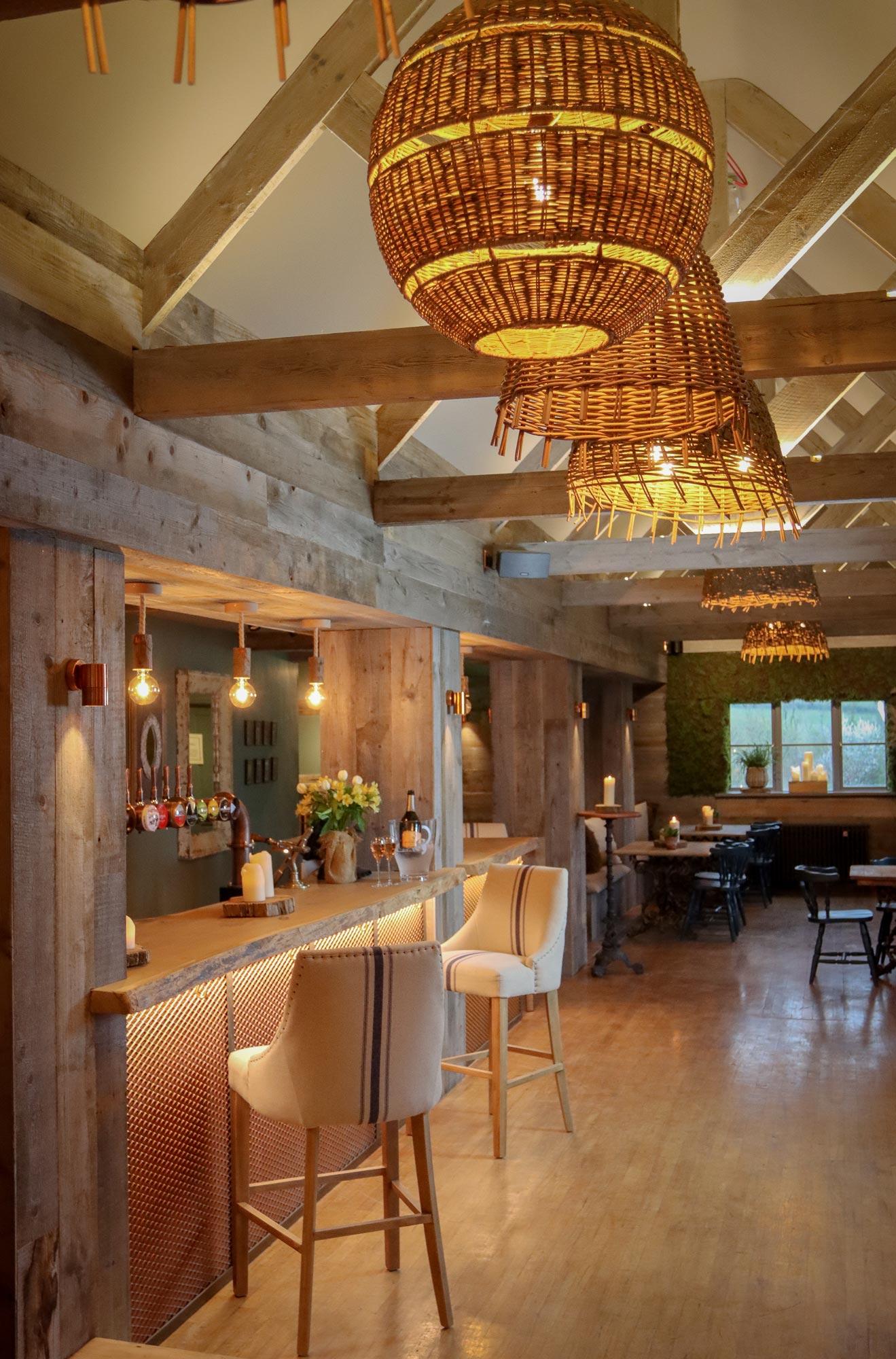Rustic farmhouse bar