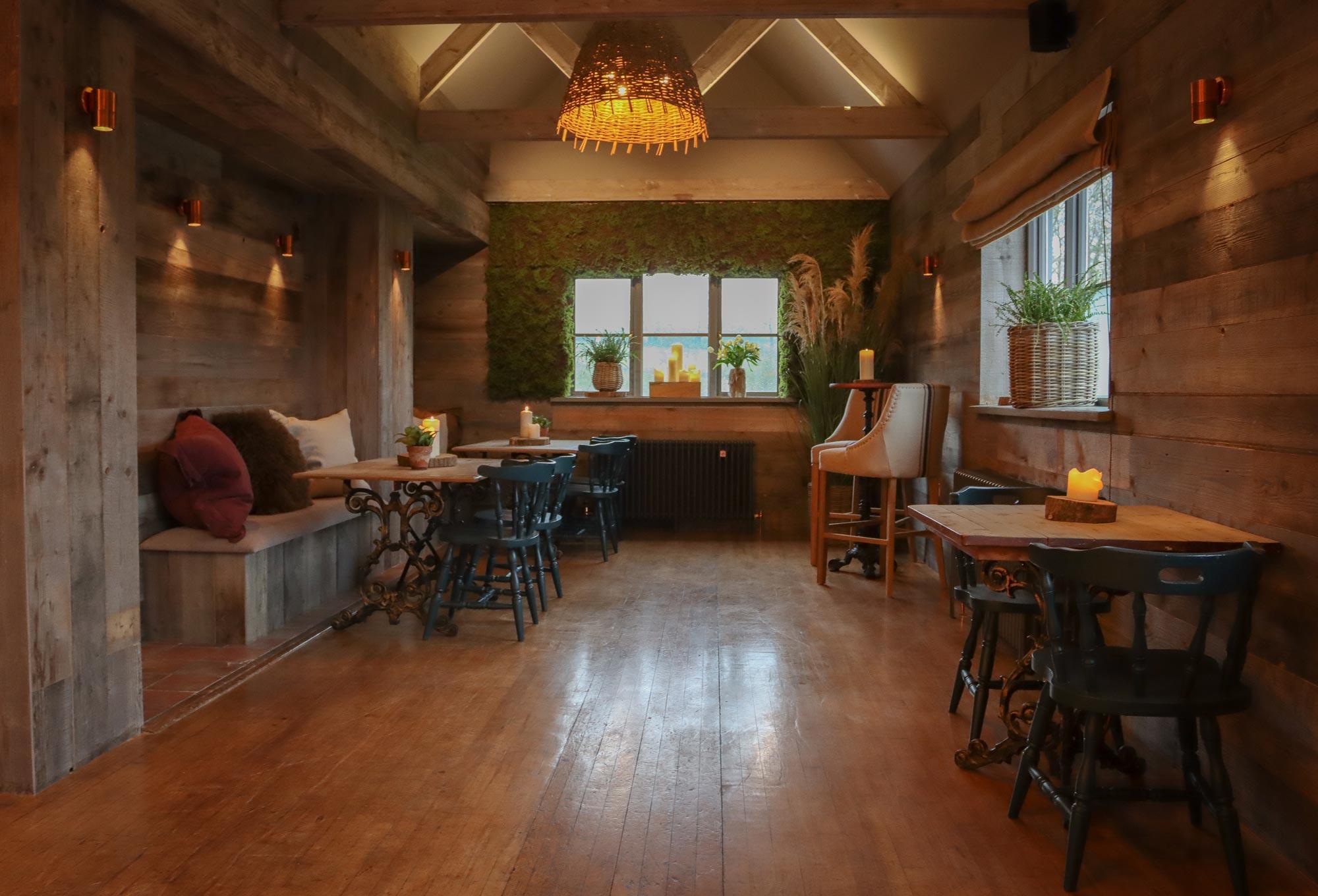 Rustic bar interior