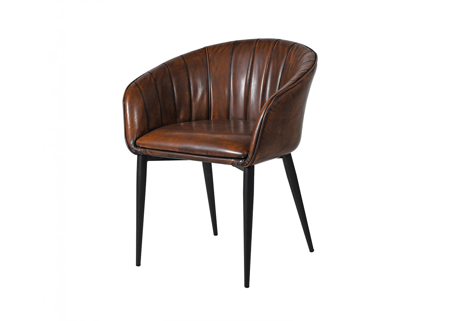 Brown curve dining chair