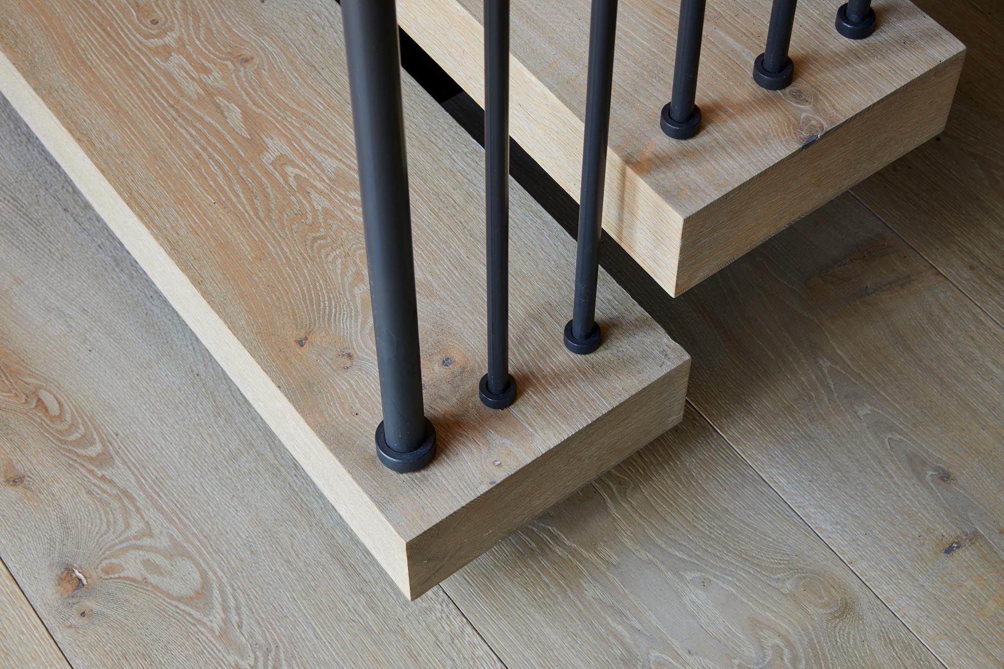 Bespoke oak flooring and staincase