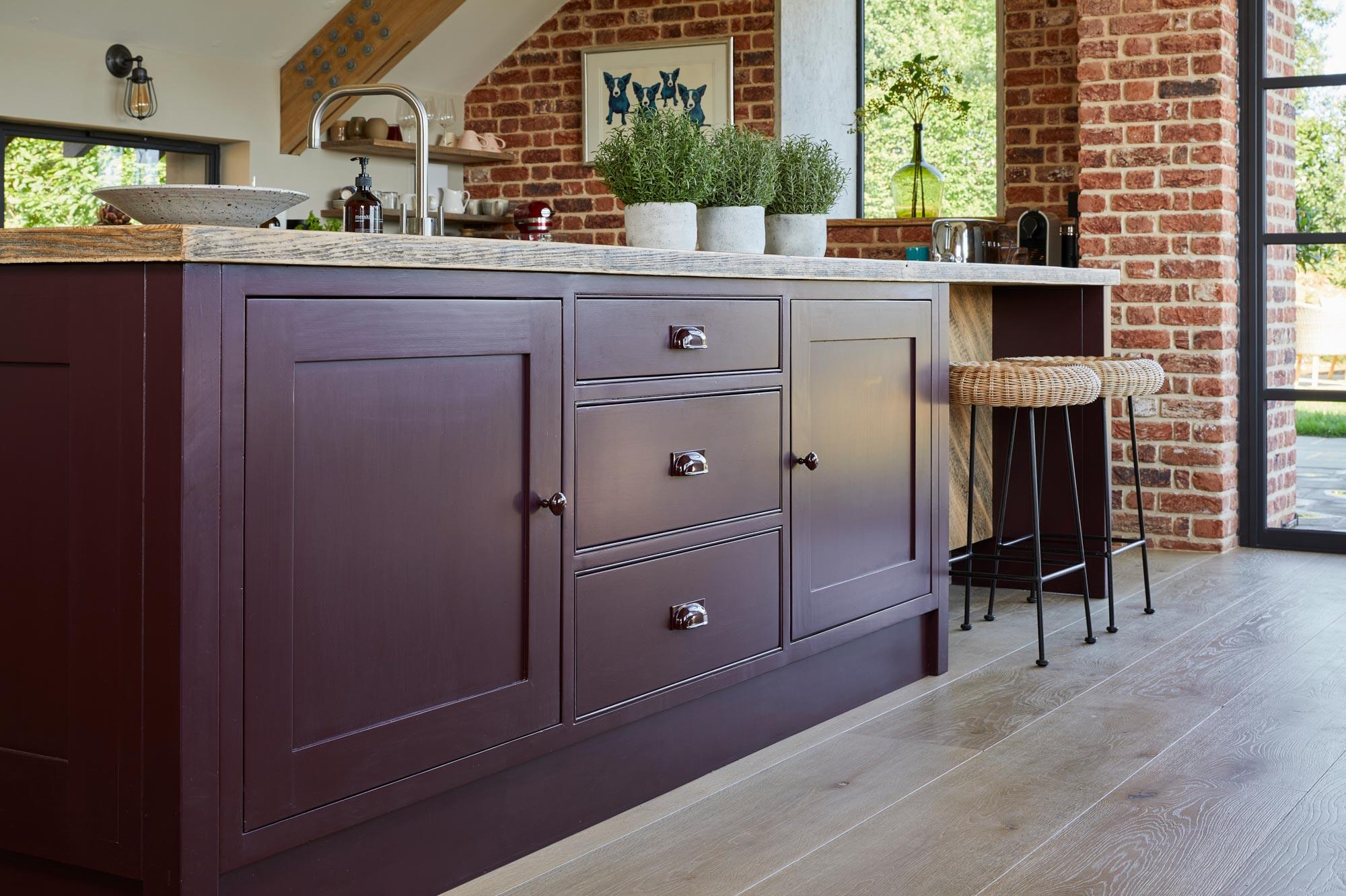 Painted shaker kitchen