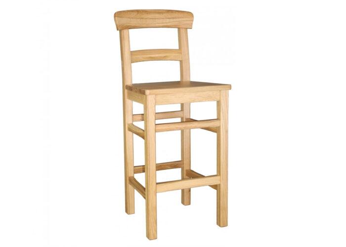 Parlour oak bar stool