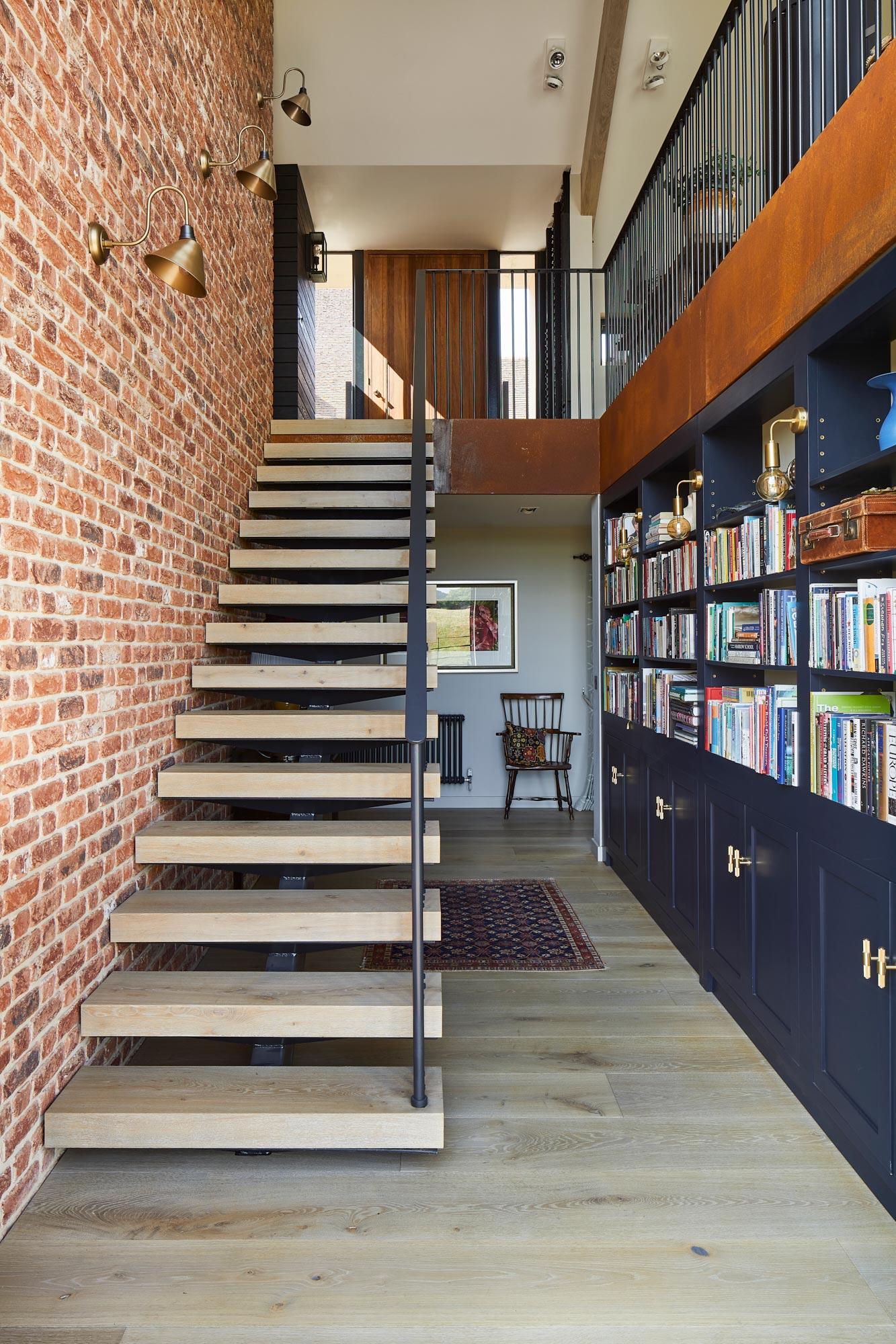 Chunky oak stair treads