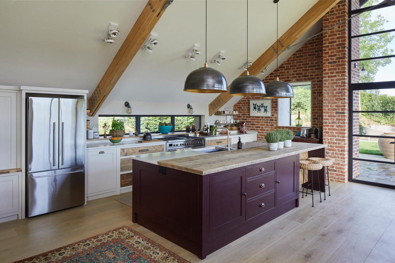 Painted shaker kitchen island