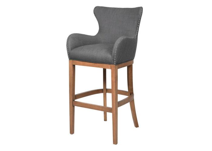 Dark grey bar stool