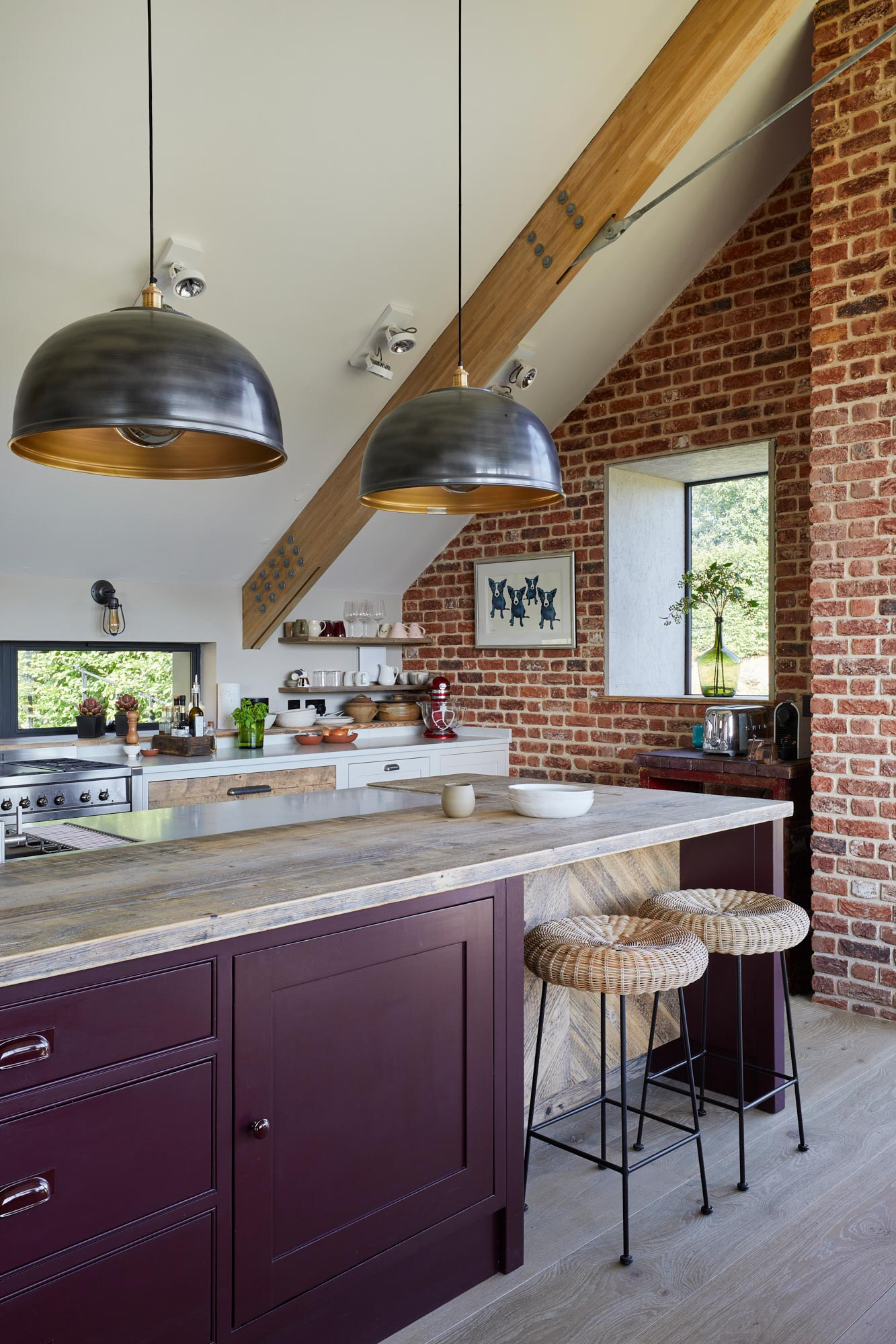 Cordoba Little Greene kitchen island