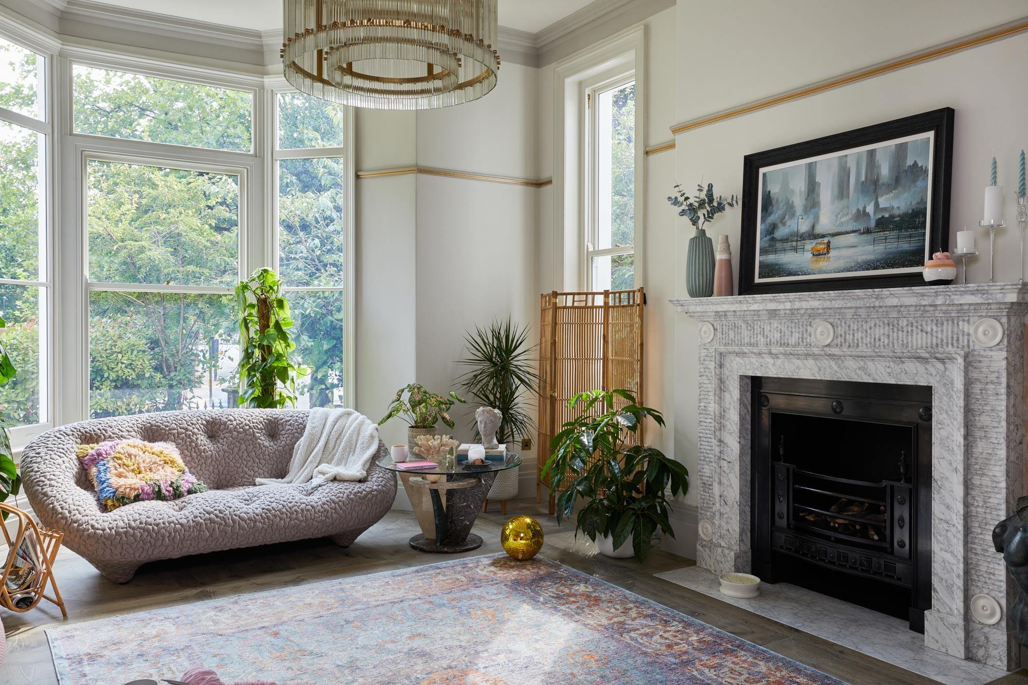 Contemporary grey oak flooring