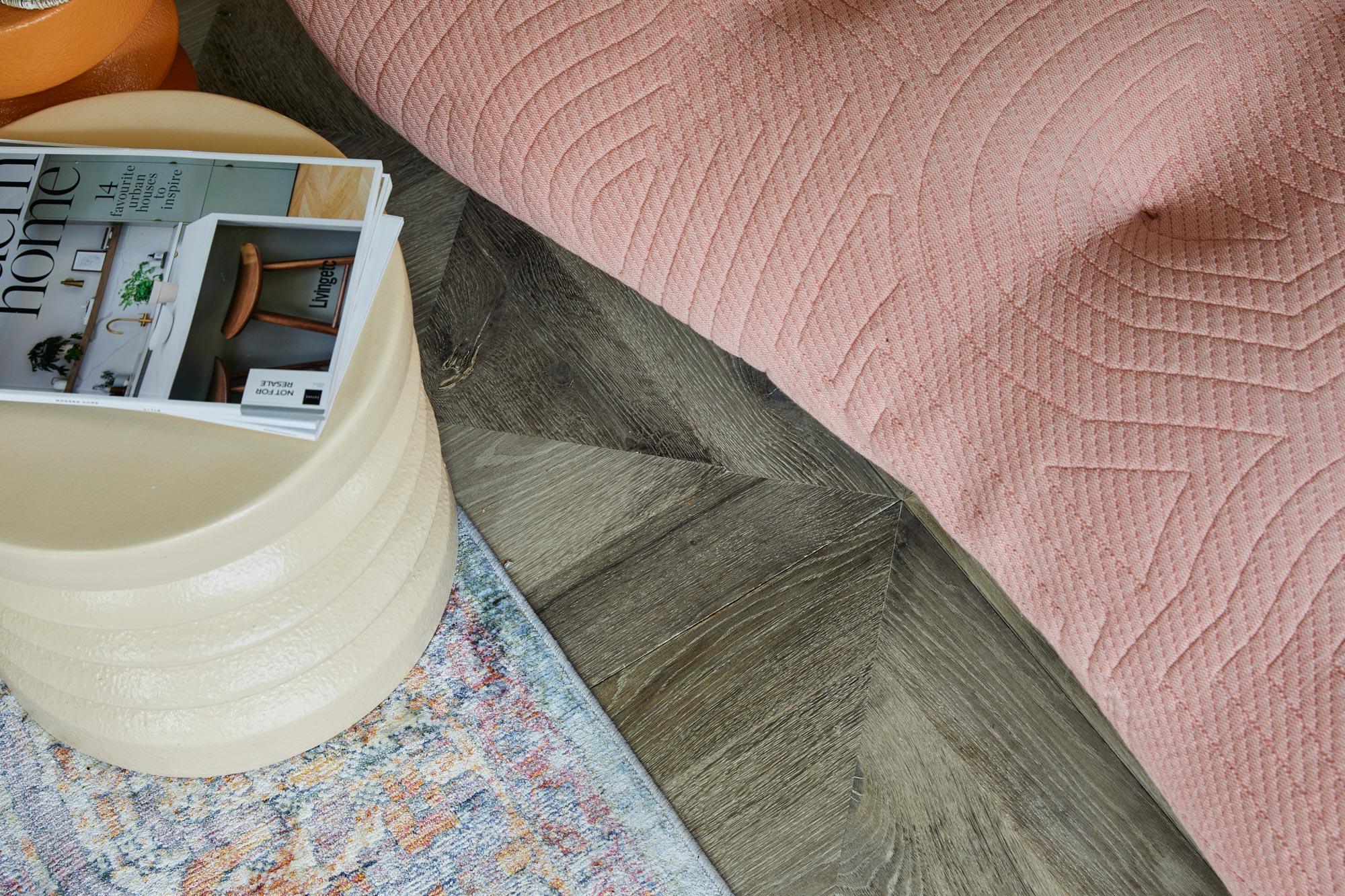 Grey oak bedroom flooring
