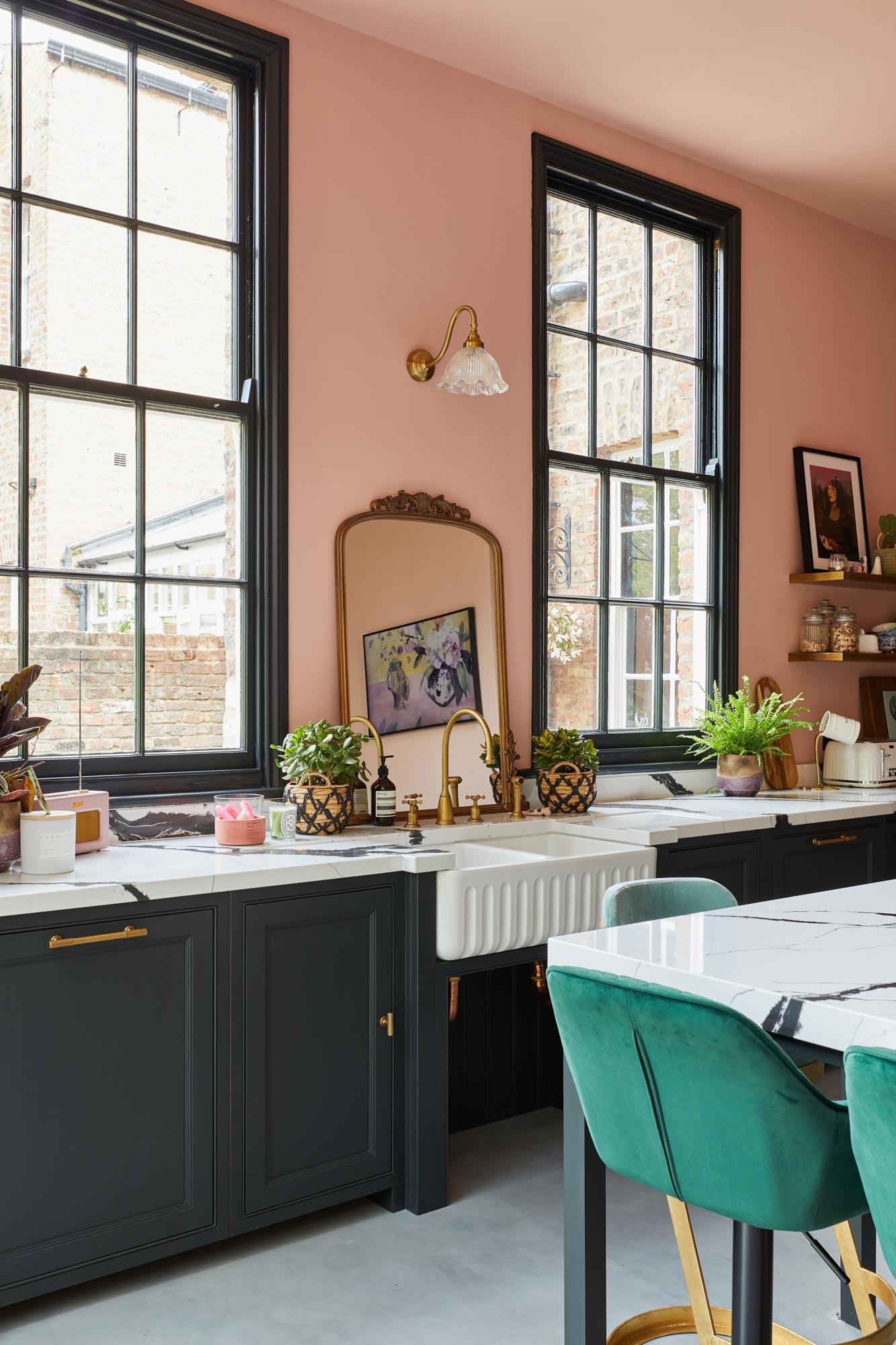 Bespoke blue shaker kitchen design