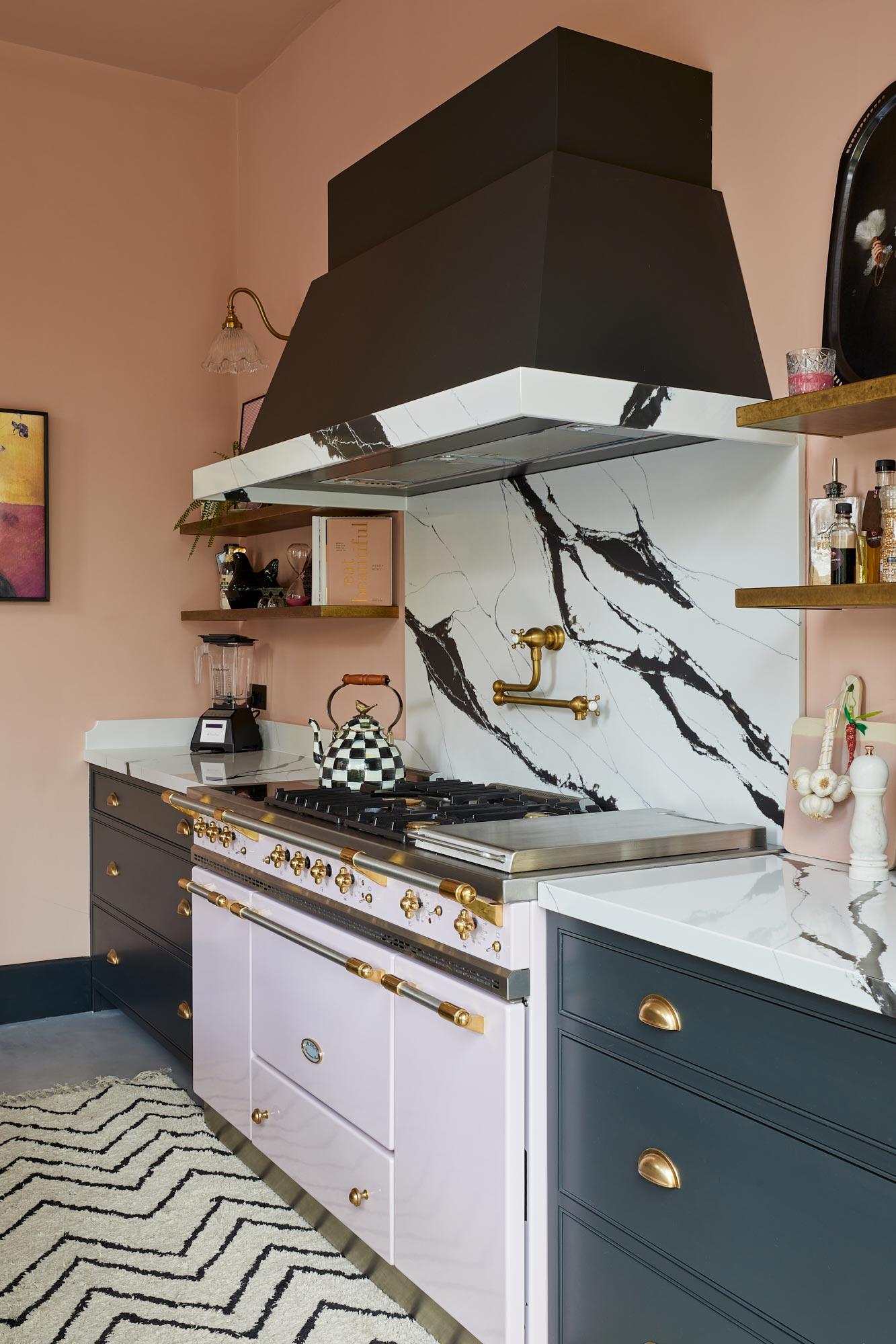 Pink Lacanche range kitchen cooker