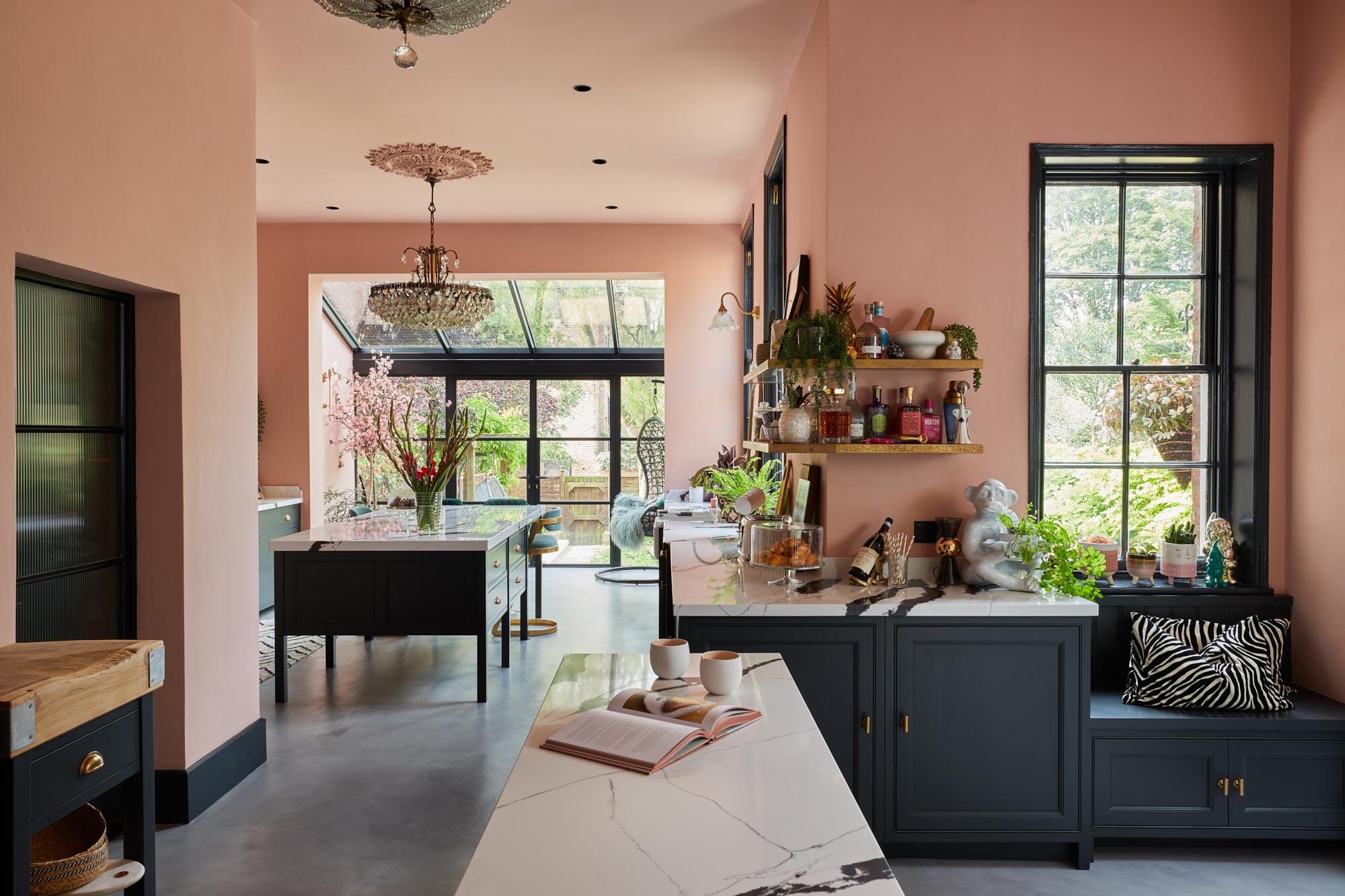 Shaker blue kitchen design