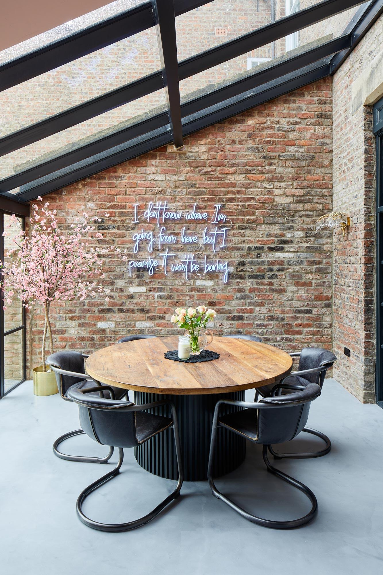 Bespoke round kitchen table