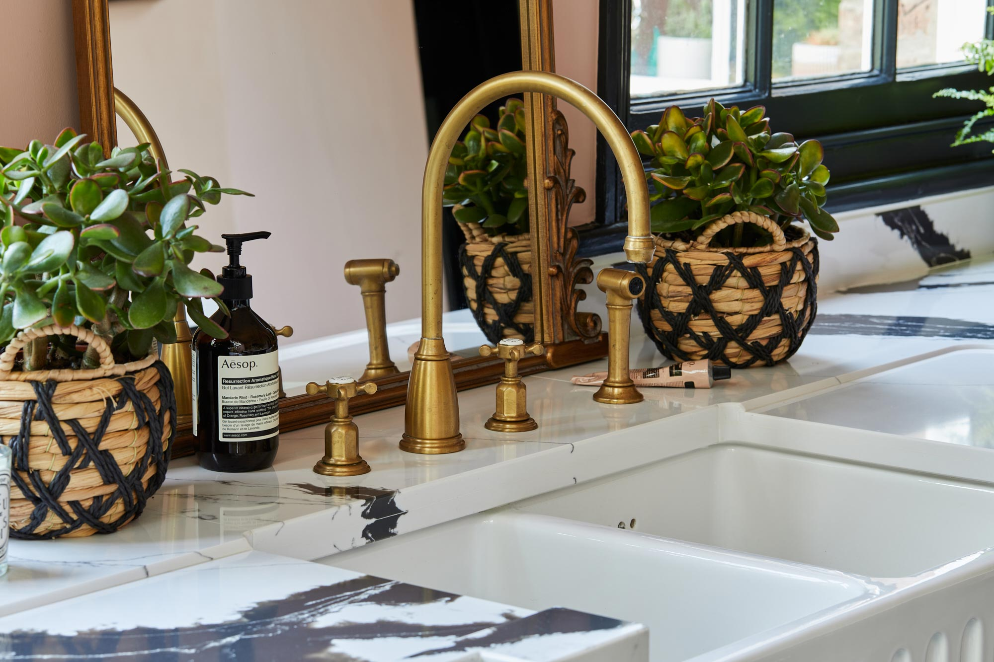 Perrin and Rowe Brass kitchen taps