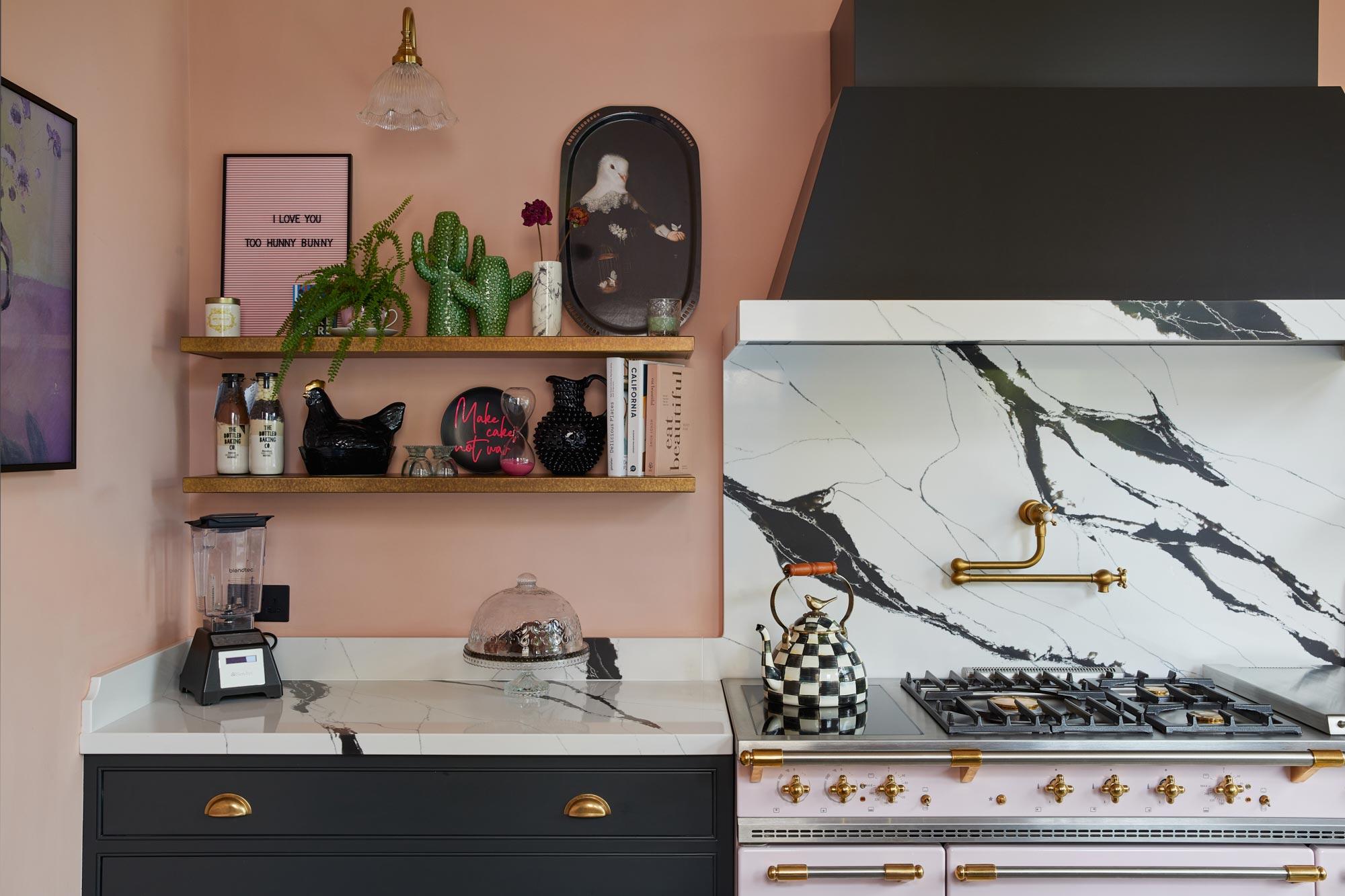 Pink Lacanche range cooker
