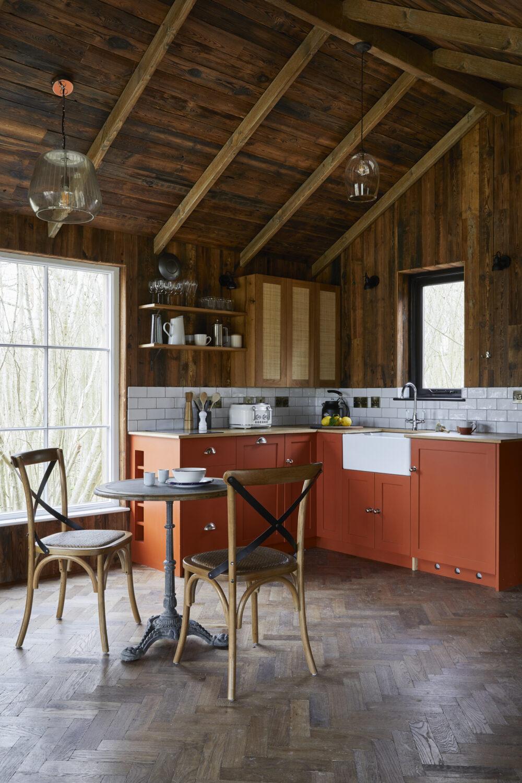 Bright Orange kitchen design